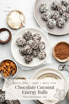 Vegan Cheese Recipes, Healthy Vegan Desserts, Vegan Lunches, Vegan Breakfast Recipes, Vegan Snacks, Easy Snacks, Healthy Snacks, Coconut Energy Balls, Vegan Energy Balls