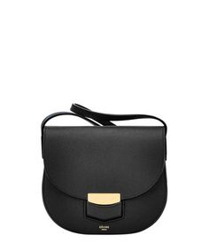 Trotteur black leather shoulder bag Sale - Céline Sale