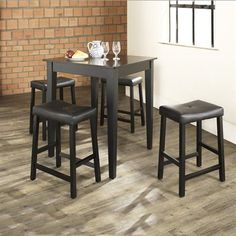Crosley Furniture Dining Set KD520008 5-Piece Pub & Broyhill Mirren Pointe Round 5 Piece Counter Pub Table Set | For the ...