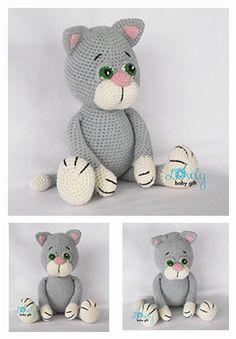 Amigurumi cat crochet pattern, häkelanleitung, haakpatroon, hæklet mønster…