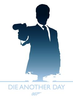 'Die Another Day' minimalist movie poster (artwork by Phil Beverley, via Behance)