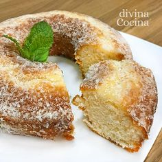 Bunt Cakes, Cupcake Cakes, Cupcakes, Vegan Desserts, Just Desserts, Spanish Desserts, Cooking Time, Cooking Recipes, Pan Dulce