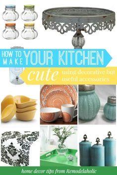 Make my kitchen cute! Love that tray #spon