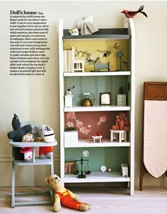 dollhouse from old bookcase