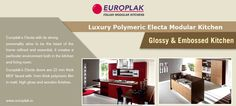 Luxury Polymeric Electa Modular Kitchen For more details Visit : http://www.europlak.in/
