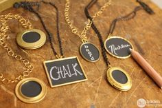 chalkboard necklaces