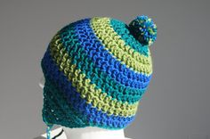 Adult Crocheted Hat with Ear Flaps in Green and by TheTipsyTurtle, $26.00