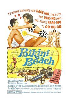 Bikini Beach, Frankie Avalon, Annette Funicello, 1964 Movies Art Print - 41 x 61 cm