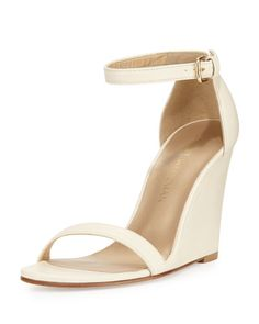 Ankle strap wedges for bridesmaids for a beach wedding