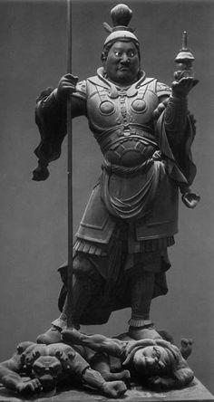 運慶《毘沙門天立像》1186 願成就院✖️ Art. Ideas. Home. Fashion ✖️FOSTERGINGER AT PINTEREST ✖️ Buddah Statue, Ancient Armor, Japan Landscape, Japanese Mythology, Japanese Warrior, Japanese History, Buddha Art, Taoism, Japanese Painting
