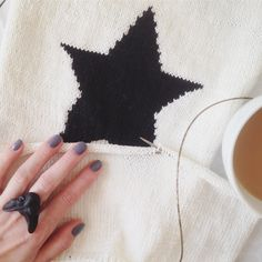 Little star sweater in process   #illiknits #inspiration #knitting #knit #sweater #вязание #вдохновение
