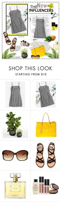 """""""Gingham Dress Contest"""" by lyric0ne ❤ liked on Polyvore featuring GALA, GaÃ«lle Bonheur, Versace and philosophy"""