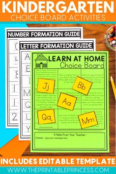Learn at home with 40 weeks of fun no-prep activities! Just print and go! These activities will help your students stay on track in math and literacy while learning from home! Students will practice their letter names, letter sounds, counting and cardinality, sight words and so much more!