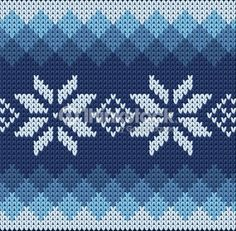 Detailed blue pattern with white flowers