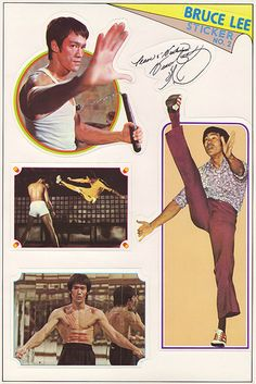Bruce Lee stickers - sheet 2 of 6 - 1970's | These stickers … | Flickr