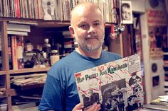 John Peel + The Fall LP (Place of honour to Mark E. Smith photo in the background)