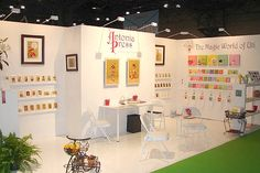 Foam board trade show wall - lightweight and what a clean look that would stand out among other booths