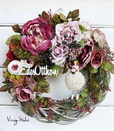 Type 3, Flower Arrangements, Floral Wreath, Wreaths, Facebook, Flowers, Crafts, Home Decor, Potager Garden