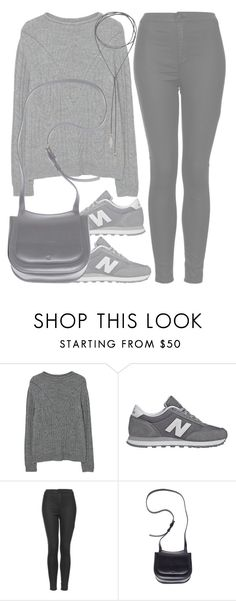 """""""when i was just that silly little girl next door"""" by aurorasrose ❤ liked on Polyvore featuring MANGO, New Balance, Topshop and The Row"""