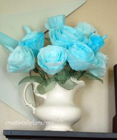 coffee filter paper roses!  So easy and fun to make with kids! Have fun doing different colors and staining techniques to create your own unique roses.