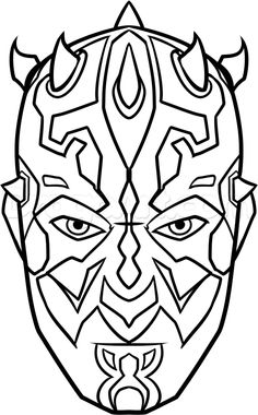 how to draw darth maul easy step 8