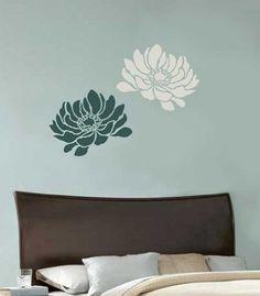 Flower stencil Anemone Grande MED - Reusable stencils better than decals Cutting Edge stencils http://www.amazon.com/dp/B0089CAA9C/ref=cm_sw_r_pi_dp_ppD-wb0KERQH8