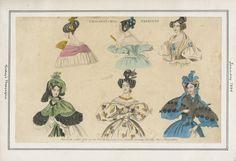 """Philadelphia Fashions"", January 1834.  GIANT SLEEVES. (source: Casey Fashion Plates @ LA Public Library)"