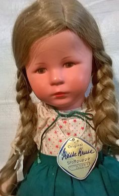 VINTAGE KATHE KRUSE German Cloth Doll. 18.5 by FlorasDollsNAll