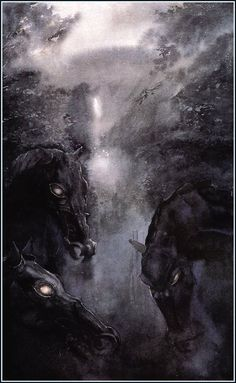 One of my most favorite LOTR paintings done by Alan Lee.