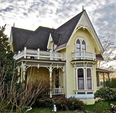 yellow victorian house house yellow lovely victorian victorian ...