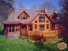 Citadel I Model from True North Log Homes.