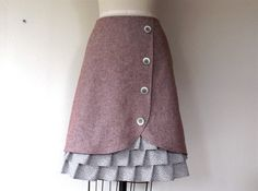 Margaret ruffle front skirt Sz 10 by LoveToLoveYou on Etsy