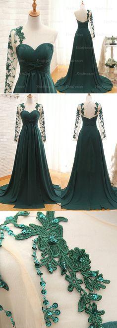 Elegant teal green prom dress, cheap long prom dress. #prom #dress #promdress #longdress #longpromdress #eveningdress #tealgreen