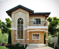 Bgf Two Story House Design, 2 Storey House Design, Bungalow House Design, House Front Design, Small House Design, Modern House Design, Philippines House Design, Philippine Houses, Vintage House Plans