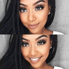 http://www.shorthaircutsforblackwomen.com/black-women-makeup-tips-for-dark-skin-copper-eyes-nude-lip-makeup/ Black Women Makeup Tips For Dark Skin - Copper Eyes & Nude Lip Makeup - Black Hair OMG! Black Opal, Iman, Mac Tutorials & makeup ideas for black women. #weddingmakeup