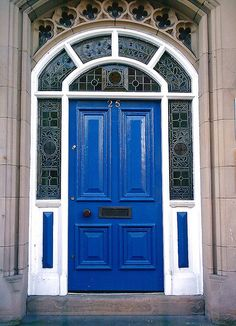 England~beautiful stained glass surround around this door~ by JohnnyEnglish, via Flickr