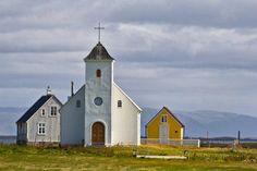 Kirche auf Flatey Architektur