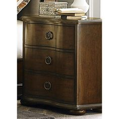 Liberty Furniture Cotsworld Serpentine Shaped 3-Drawer Nightstand - 545-BR61