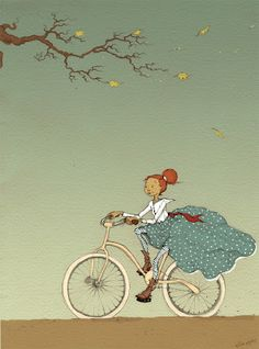 PolkadotStripes: Bicycle Girl