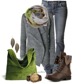"""""""Autumn Green"""" by cynthia335 ❤ liked on Polyvore"""