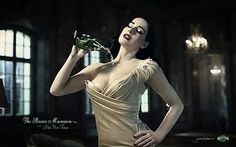 Ogilvy France for Perrier – Dita Von Teese Mansion (a sexy case study) Diet Coke, Gq, Popular Problems, Dita Von Teese Burlesque, Pin Up, La Mans, Folk Festival, Rehearsal Dress, Sexy