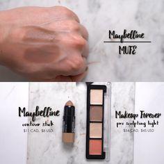 High end vs drugstore : Makeup Forever pro sculpting light $45 vs Maybeline contour stick $8