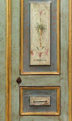Reproduction of Antique Italian Painted Door