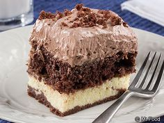 Heavenly Chocolate Cake - This diabetic-friendly dessert features creamy, chocolatey goodness. Each bite is heavenly!