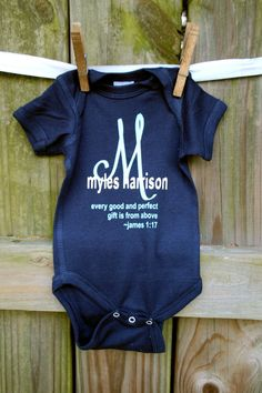 Baby boy onesie newborn onesie personalized onesie baby shower baby boy onesie coming home dedication outfit good and perfect gift baby boy shower gift monogrammed boy personalized by maxwellmonogramming on etsy negle Gallery