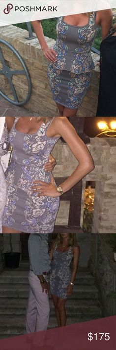 Two piece BCBG bandage set Floral two piece bandage set. Worn for a few hours on vacation in Italy. Looks brand new. BCBG Dresses Mini