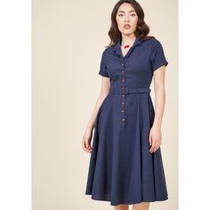 Cherished Era Shirt Dress (120 AUD) ❤ liked on Polyvore featuring dresses, apparel, fashion dress, varies, pink skater skirt, retro style dresses, flared skirt, retro shirt dress and pocket dress