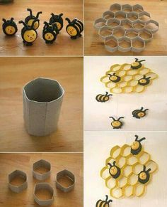 Making the House Prettier with Delightful and Rustic DIY Craft Projects: Arts And Crafts Projects For Adults And Easy Toilet Paper Roll Crafts ~ DIY Craft Inspiration Toilet Paper Roll Art, Rolled Paper Art, Toilet Paper Roll Crafts, Diy Paper, Recycle Paper, Diy Craft Projects, Kids Crafts, Decor Crafts, Project Ideas