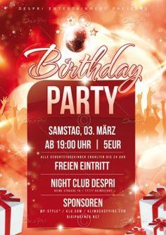 Birthday Party Flyer Vorlage, Design inkl. Druck, P0003 | Flyer | Designvorlagen | Despri