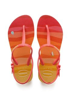 3a0845d59c18b Havaianas Kids Freedom Rose Print Sandals